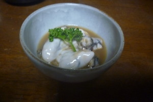 生牡蠣のゆず酢