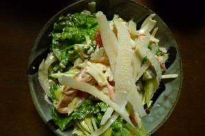 ゴーダチーズと野菜たっぷりサラダ