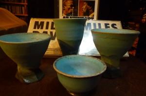新作のターコイズブルー、キラキラ杯と盃